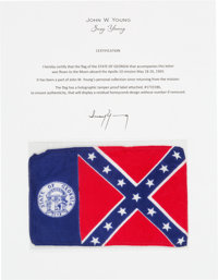 Apollo 10 Flown Georgia Flag Directly from the John W. Young Collection, with Letter of Certification