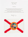 Explorers:Space Exploration, Apollo 10 Flown Florida Flag Directly from the John W. You...