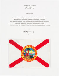 Apollo 10 Flown Florida Flag Directly from the John W. Young Collection, with Letter of Certification