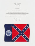 Explorers:Space Exploration, Apollo 16 Flown Georgia Flag Directly from the John W. Young Collection, with Letter of Certification. ...