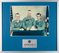 Apollo 1 Crew-Signed Large Color Photo in Handsome Framed Display, with Full Letters of Authenticity from both Steve Zar...