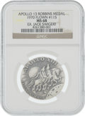 Explorers:Space Exploration, Apollo 13 Flown MS68 NGC Silver Robbins Medallion, Serial Number 151, Originally from the Personal Collection of Mission Comma...
