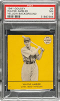 Baseball Cards:Singles (1940-1949), 1941 Goudey Wayne Ambler (Yellow) #7 PSA NM 7 - Pop One, One Higher! ...