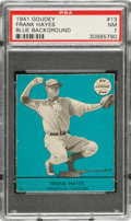 Baseball Cards:Singles (1940-1949), 1941 Goudey Frank Hayes (Blue) #13 PSA NM 7 - Pop One, None Higher! ...