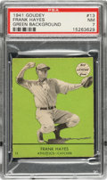 Baseball Cards:Singles (1940-1949), 1941 Goudey Frank Hayes (Green) #13 PSA NM 7 - Pop Two, None Higher! ...