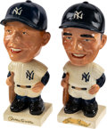 Baseball Collectibles:Others, Early 1960's Mickey Mantle and Roger Maris White Base Nodd...