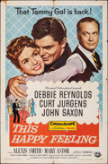"""Movie Posters:Comedy, This Happy Feeling & Other Lot (Universal International, 1958). Folded, Fine+. One Sheets (2) (27"""" X 41""""). Comedy.. ... (Total: 2 Items)"""