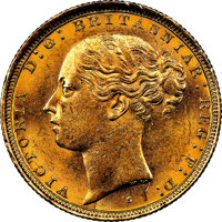 "Australia: Victoria gold ""St. George"" Sovereign 1884-S MS62 NGC"