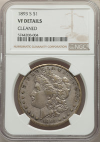 1893-S $1 -- Cleaned -- NGC Details. VF. Mintage 100,000....(PCGS# 7226)