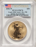 2006-W $50 One-Ounce Gold Reverse Proof, First Strike, PR70 PCGS. PCGS Population: (978). NGC Census: (0). CDN: $1,693.2...