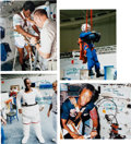 Explorers:Space Exploration, Guion Bluford: Group of Four Signed Color Photos. ...