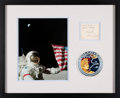 Explorers:Space Exploration, Gene Cernan Signature Matted and Framed with an Apollo 17 ...