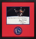 Explorers:Space Exploration, Jim McDivitt Signed Apollo 9 Lunar Module Color Photo Matted and Framed with an Embroidered Mission Insignia Patch. ....