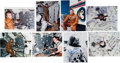 Explorers:Space Exploration, Skylab: Collection of Eight Signed Photos including Weitz, Lousma, Garriott, Carr, and Gibson....