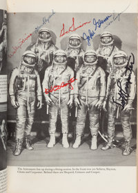 We Seven Book by The Astronauts Themselves Signed by the Mercury Seven, Apollo 1 Crew, Apollo 11 Crew, and Numerous Ot...