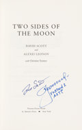 Explorers:Space Exploration, Dave Scott and Alexei Leonov Signed Book: Two Sides of the Moon. ...