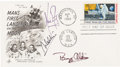 "Explorers:Space Exploration, Apollo 11 Crew-Signed ""First Man on the Moon"" First Day Cover. ..."