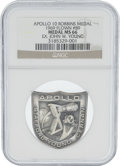 Explorers:Space Exploration, Apollo 10 Flown MS66 NGC Silver Robbins Medallion, Serial Number 89, Originally from the Personal Collection of Mission Comma...