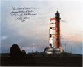 Explorers:Space Exploration, Fred Haise Signed Large Apollo 13 Launchpad Color Photo....