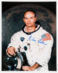 Explorers:Space Exploration, Michael Collins Signed Apollo 11 White Spacesuit Color Photo. ...