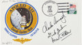 Explorers:Space Exploration, Apollo 15 Flown Crew-Signed Limited Edition Apollo 12 Cover Originally from the Collection of Apollo 12 Command Module Pilot ...