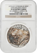Explorers:Space Exploration, Apollo 13 Unflown PF65 Ultra Cameo NGC Silver Franklin Mint Medal, Serial Number 0077, Originally from the Personal Collectio...