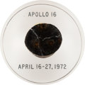 Explorers:Space Exploration, Apollo 16 Flown Heat Shield Plug in Lucite Directly from the John W. Young Collection, with Letter of Certification. ...