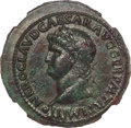 Ancients:Roman Imperial, Ancients: Nero (AD 54-68). AE sestertius (37mm, 30.48 gm, 7h). NGC AU 5/5 - 2/5, smoothing....
