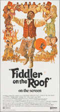 """Movie Posters:Musical, Fiddler on the Roof (United Artists, 1972). Folded, Fine/Very Fine. Three Sheet (41"""" X 76.5""""). Ted Coconis Artwork. Musical...."""