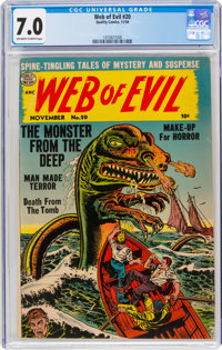 Web of Evil #20 (Quality, 1954) CGC FN/VF 7.0 Off-white to white pages