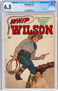 Whip Wilson #11 (Marvel, 1950) CGC FN+ 6.5 Cream to off-white pages