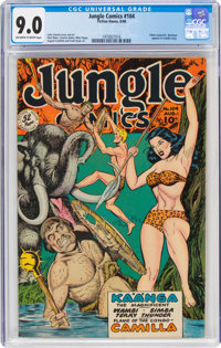 Jungle Comics #104 (Fiction House, 1948) CGC VF/NM 9.0 Off-white to white pages