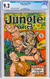 Jungle Comics #109 (Fiction House, 1949) CGC NM- 9.2 Off-white to white pages