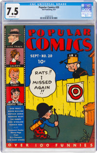 Popular Comics #20 (Dell, 1937) CGC VF- 7.5 Off-white pages