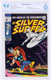The Silver Surfer #4 (Marvel, 1969) CBCS NM 9.4 Off-white to white pages