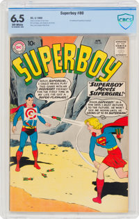 Superboy #80 (DC, 1960) CBCS FN+ 6.5 Off-white pages