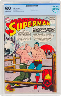 Superman #164 (DC, 1963) CBCS VF/NM 9.0 Off-white to white pages