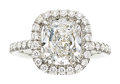 Estate Jewelry:Rings, Diamond, Platinum Ring The ring features a cu...