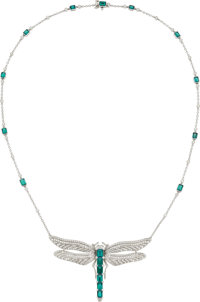 Alexandrite, Diamond, Platinum Necklace, Tiffany & Co