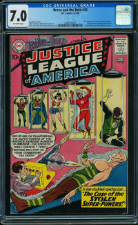 The Brave and the Bold 30 Justice League of America (DC, 1960) CGC FN/VF 7.0 Off-white pages