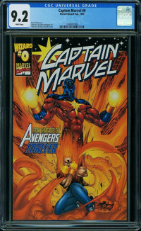Captain Marvel #0 (Marvel) CGC NM- 9.2 White pages
