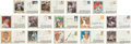 Baseball Collectibles:Others, 500 Home Run Club Members Signed First Day Covers Lot of 14....