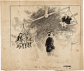 Baseball Collectibles:Others, Circa 1912 Ty Cobb vs. Ban Johnson Original Artwork from T...