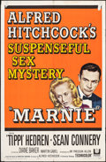 """Movie Posters:Hitchcock, Marnie (Universal, 1964). Folded, Fine+. One Sheet (27"""" X 41""""). Hitchcock.. ..."""