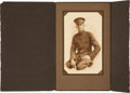 Baseball Collectibles:Photos, 1918 Ty Cobb Military Portrait In Presentational Folder - From The Ty Cobb Collection....