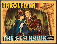 "The Sea Hawk (Warner Bros., 1940). Very Good+ on Paper. Linen Finish Lobby Card (11"" X 14""). Swashbuckler"