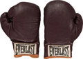 Boxing Collectibles:Memorabilia, 1972 Muhammad Ali Fight Worn Gloves from Floyd Patterson II Bout....