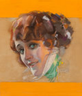 Works on Paper, Rolf Armstrong (American, 1889-1960). Portrait of Olga Petrova, Photoplay magazine cover, March 1922. Pastel on board. 1...