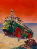Paintings, Stewart Rouse (American, 20th Century). A New Ship of the Desert, Modern Mechanics and Inventions cover, October 1931. O...