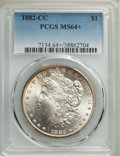 1882-CC $1 MS64+ PCGS. PCGS Population: (13224/7392 and 565/448+). NGC Census: (6499/3499 and 152/94+). CDN: $225 Whsle...